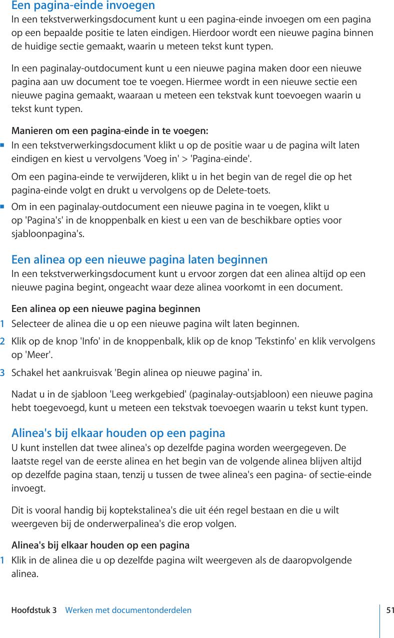 Apple Iwork09 Pages 09 Gebruikershandleiding User Manual