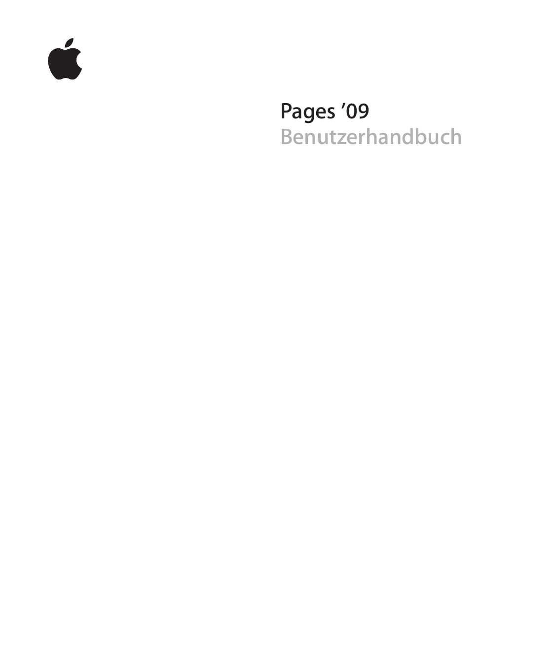Apple IWork \\\'09 Pages \'09 Benutzerhandbuch User Manual Pages09