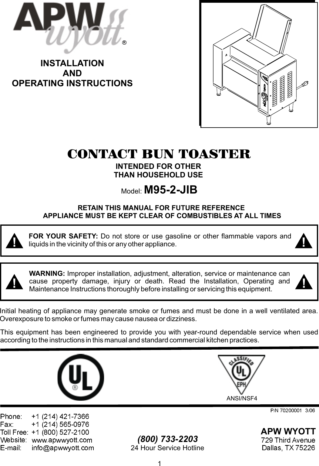 [NRIO_4796]   Apw Wyott M95 2 Jib Users Manual | A Wyott M95 Wiring Diagram |  | UserManual.wiki