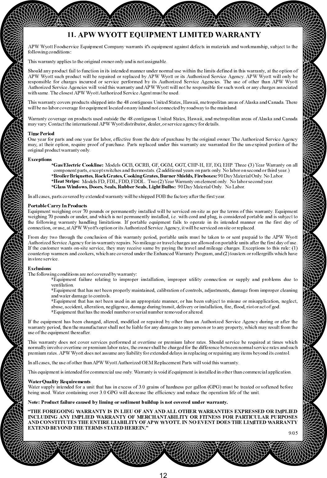 Apw Wyott M95 2 Jib Users Manual A Wiring Diagram Page 12 Of