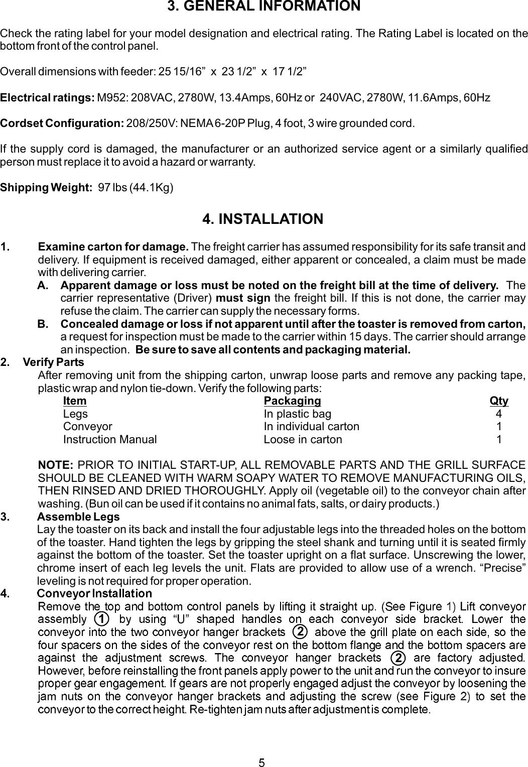 Apw Wyott M95 2 Jib Users Manual A Wiring Diagram Page 5 Of 12
