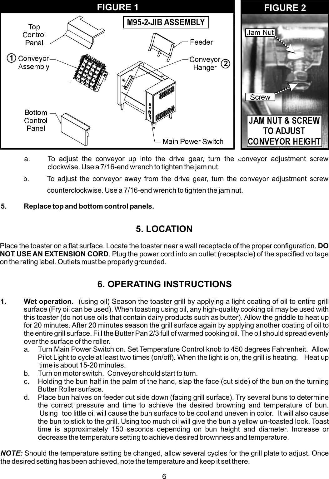 Apw Wyott M95 2 Jib Users Manual on