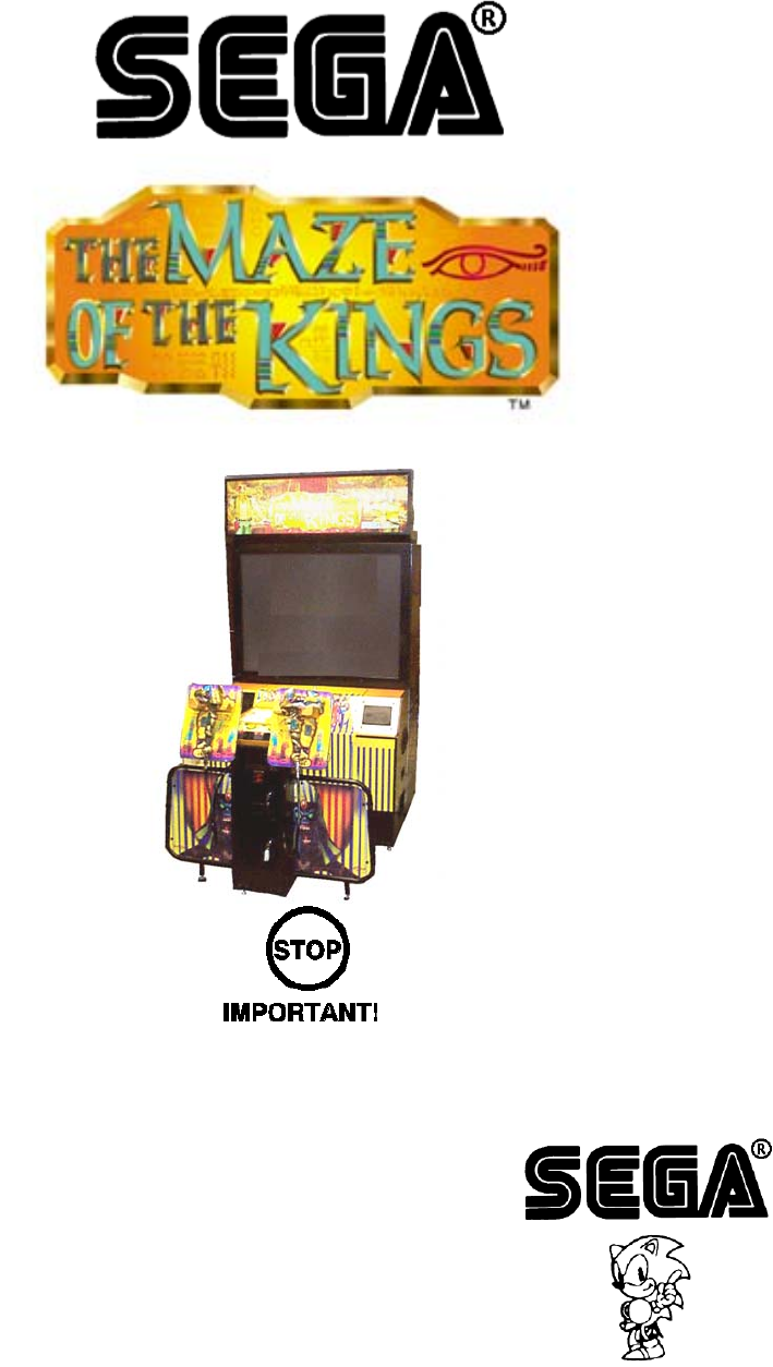 Arcade Maze Of The Kings Dlx Manual MAZ DELUXE User