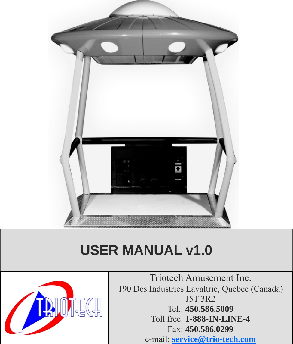 Arcade Ufo Stomper User Manual Stomper_06 Ang (Read Only)