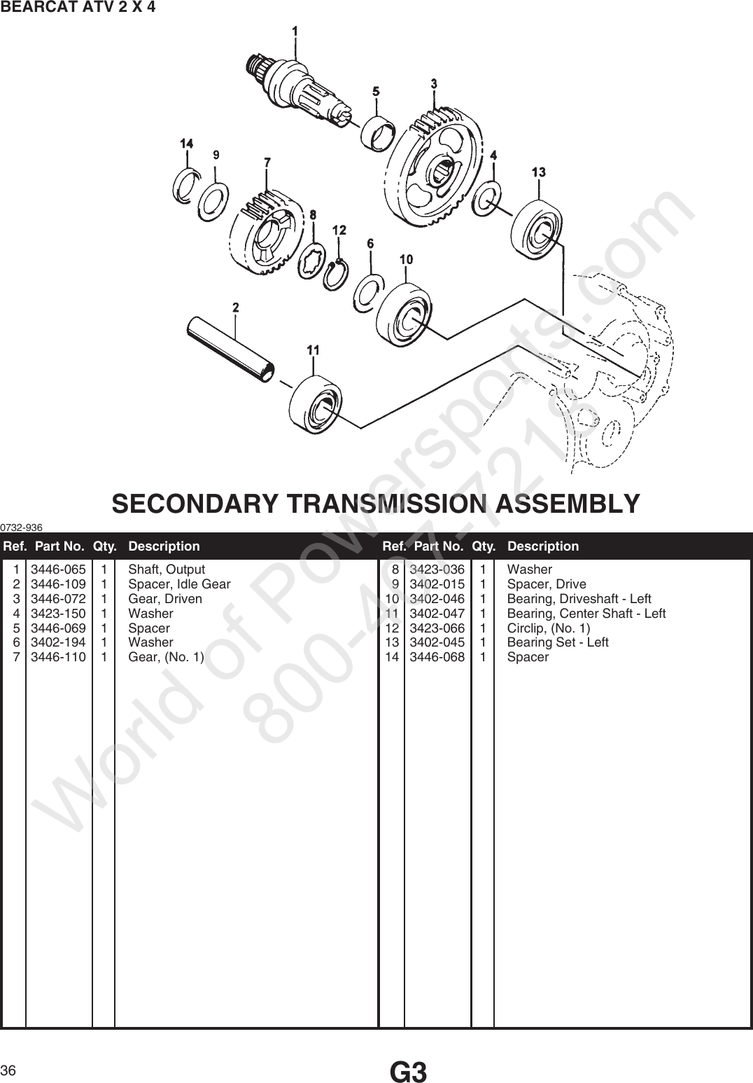 Arctic Industries Bearcat Atv 2X4 97A2A Ap Users Manual on
