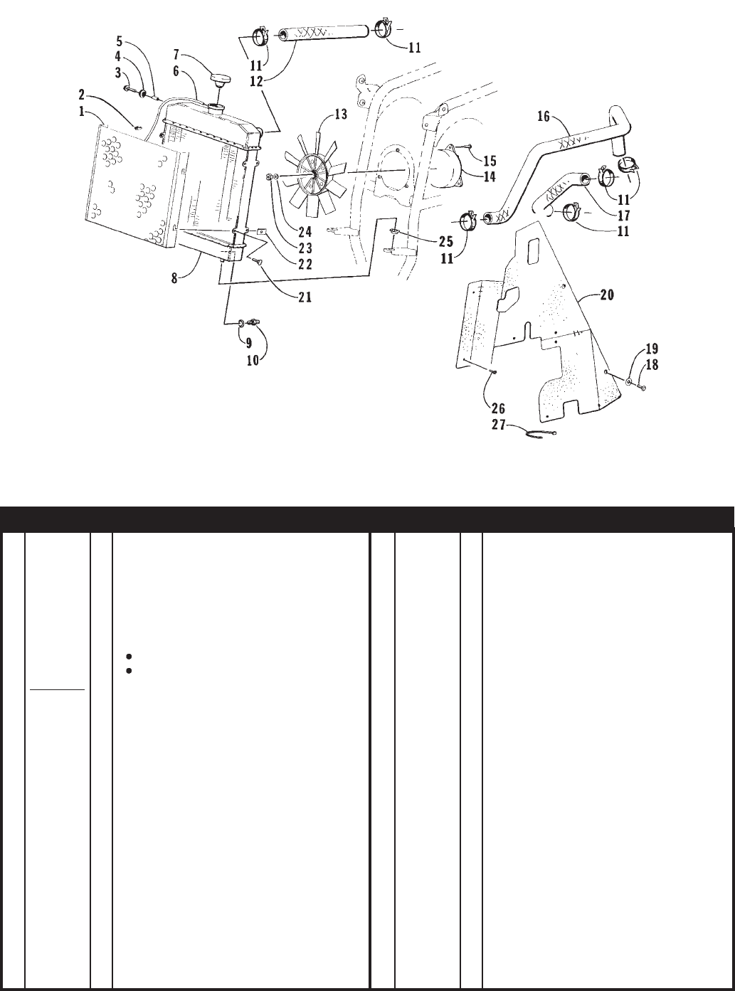 Arctic Industries Bearcat Atv 2x4 97a2a Ap Users Manual 543 Cat Engine Diagram Cooling Assembly
