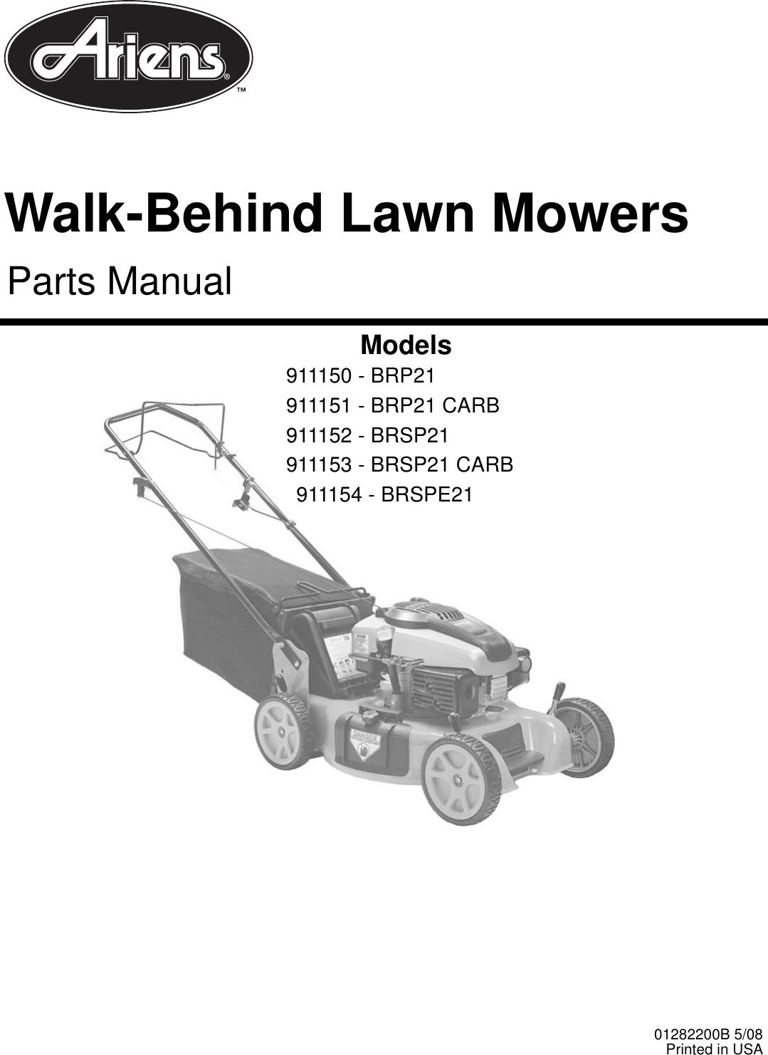 Ariens 911150 Brp21 Users Manual 01282200_Ariens WBLM PM
