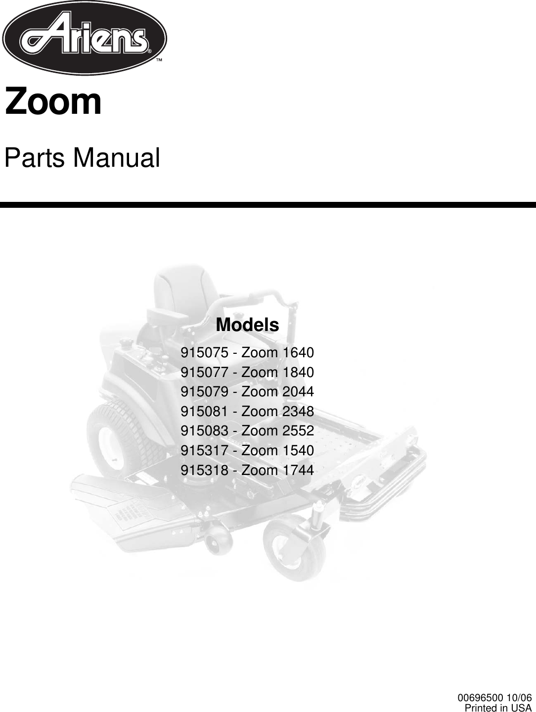 Ariens 915075 Users Manual Zoom Wiring Diagram