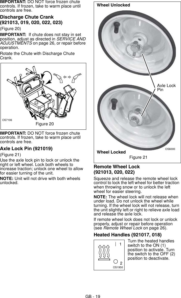 Ariens Snow Blower 921013 Users Manual 03882700G_921_DOM