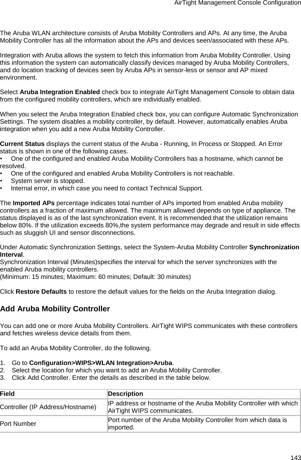 Aruba Ldap Authentication Configuration