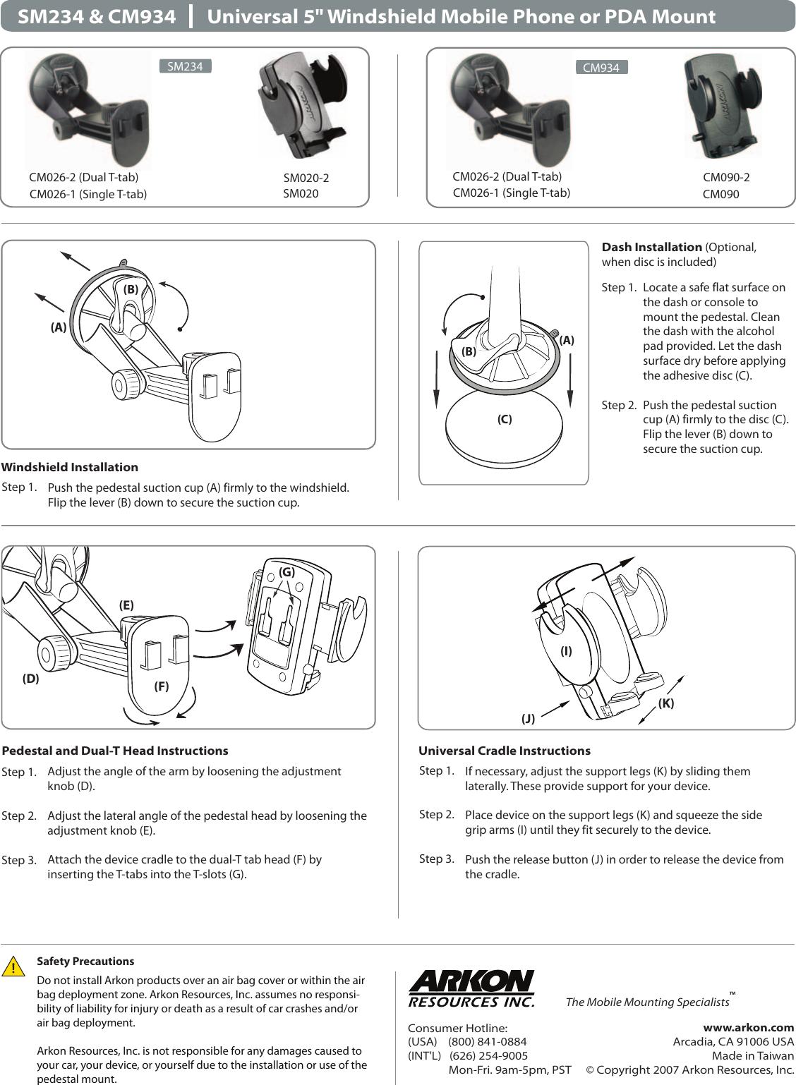 Arkon cm934 users manual pdf letter shell solutioingenieria Choice Image