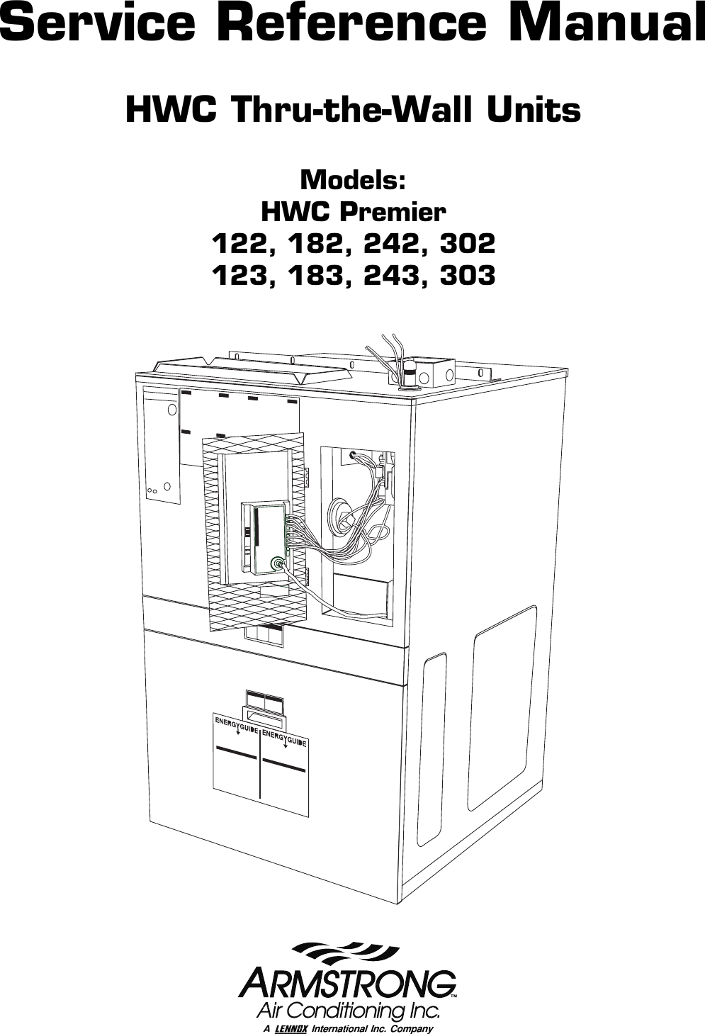 Armstrong World Industries Hwc Premier 183 Users Manual Toc Fenwal Automatic Ignition Module Wiring Diagram