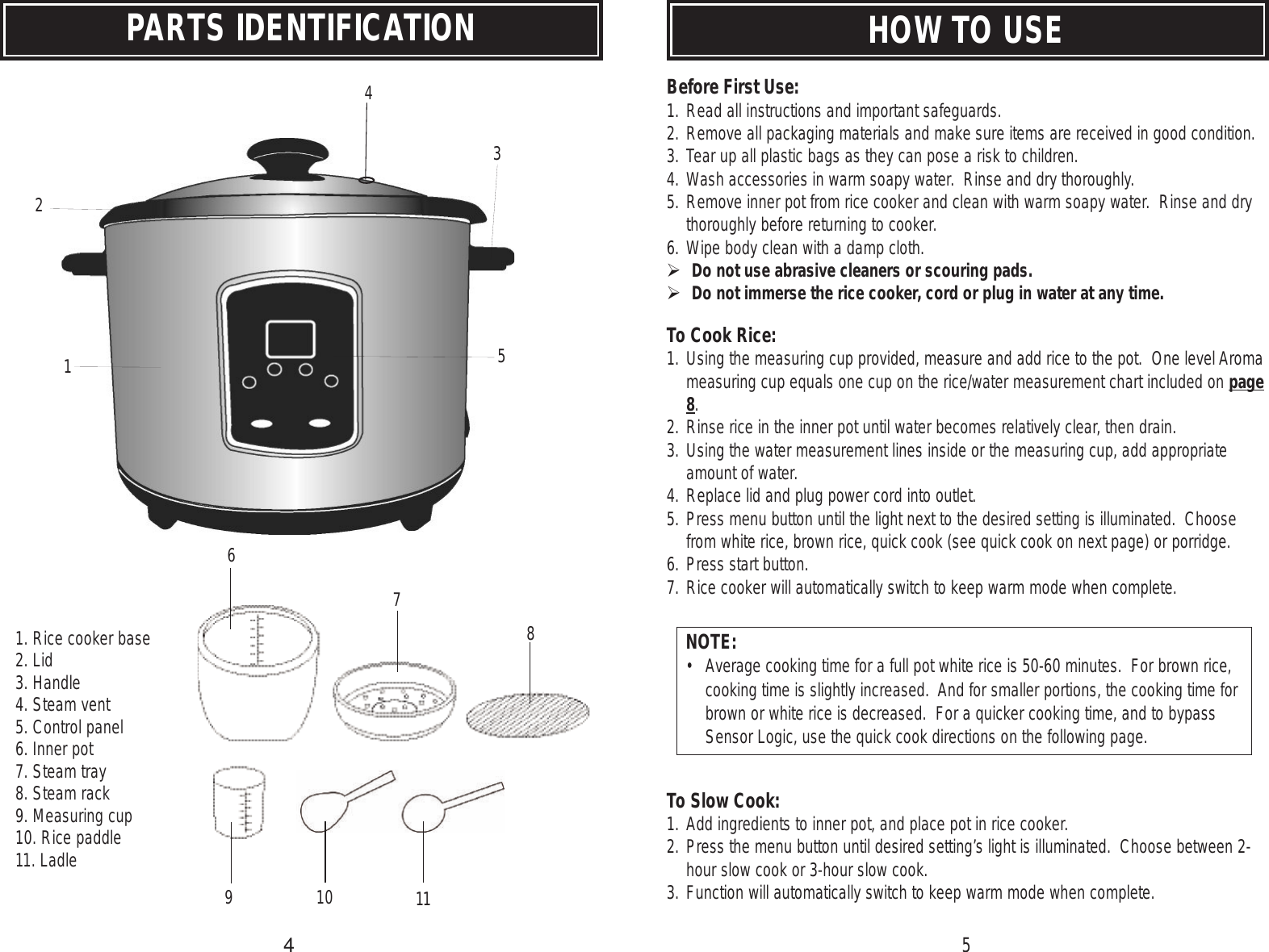 aroma rice cooker arc 530 users manual rh usermanual wiki Elite Rice Cooker Instruction Manual Rice Cooker with Timer Manuals