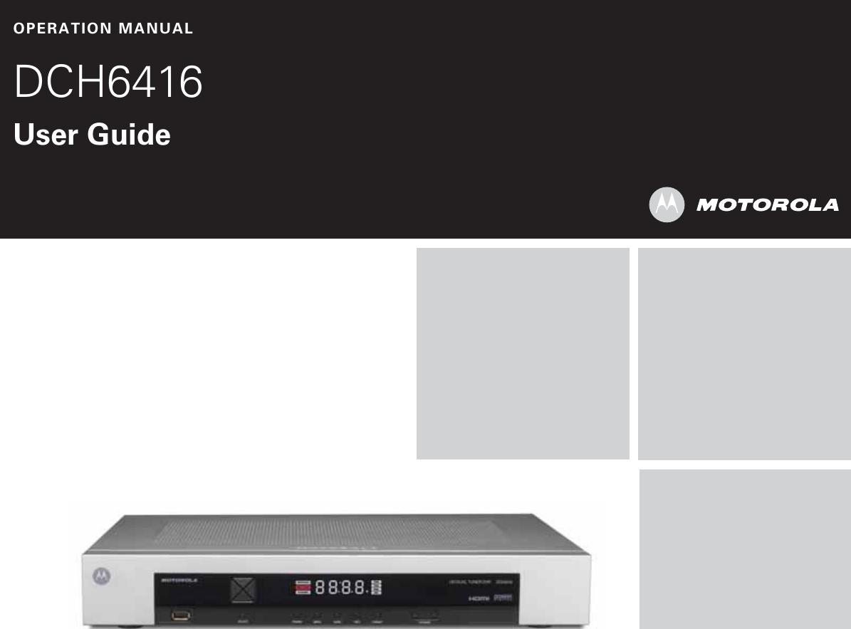 arris dch6416 user guide manual dch6416 rh usermanual wiki Motorola DCH6416 Recording Hours Motorola DCH6416 Front