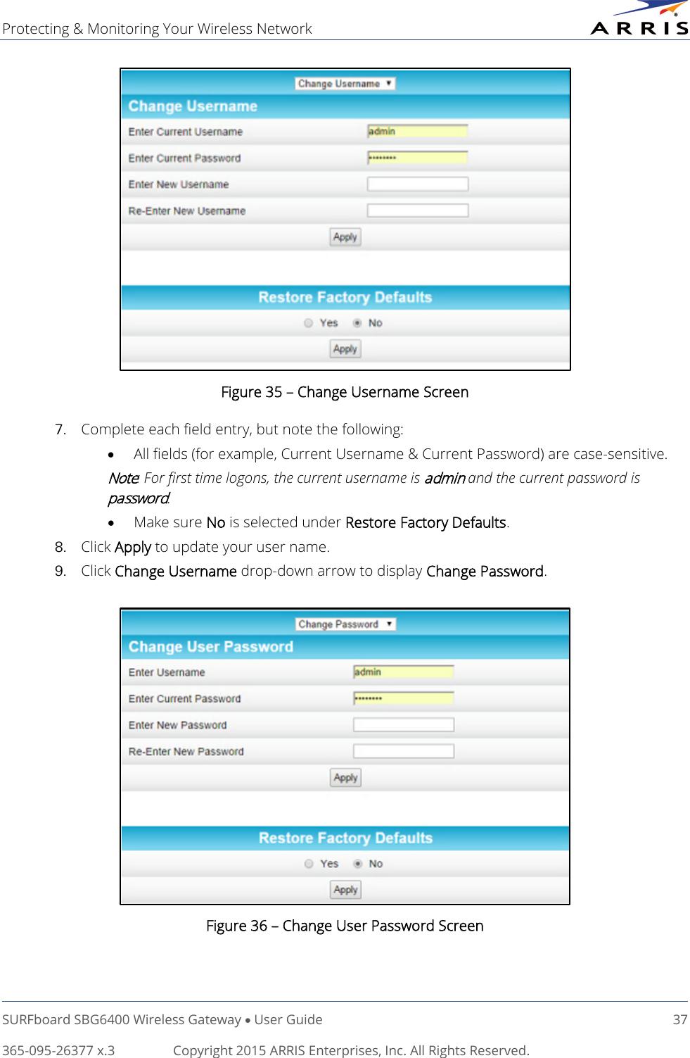 Arris SBG6400 User Manual SB6400: Guide UG 7 15