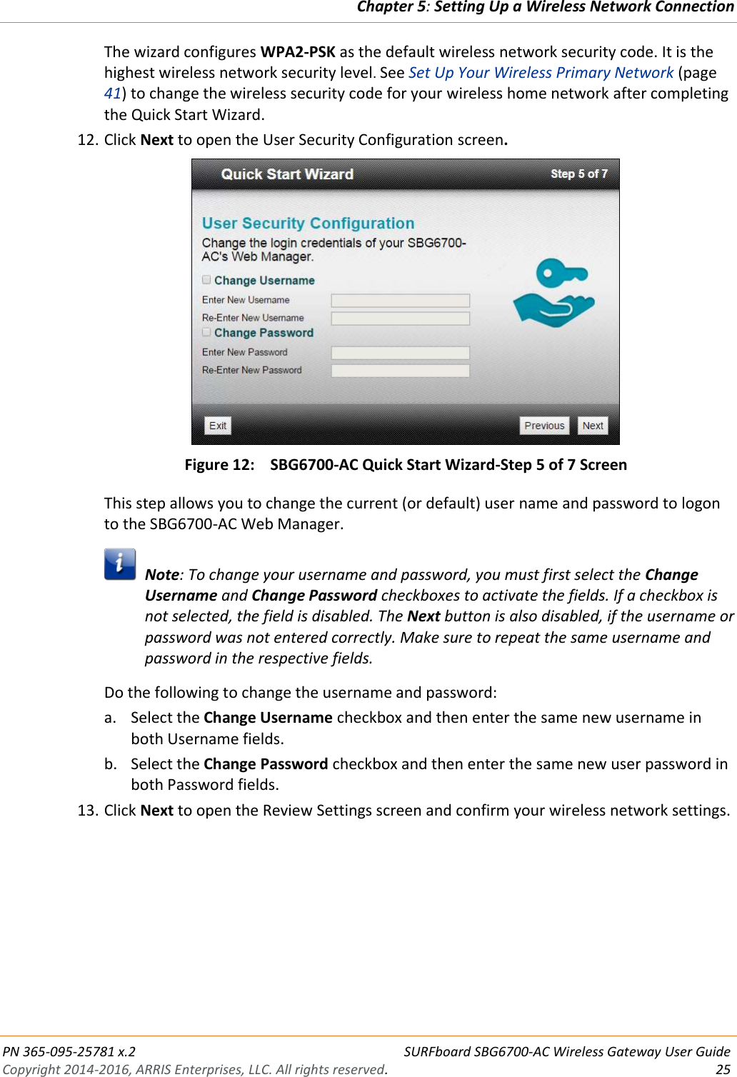 Arris SBG6700 AC User Guide Manual SBG6700:
