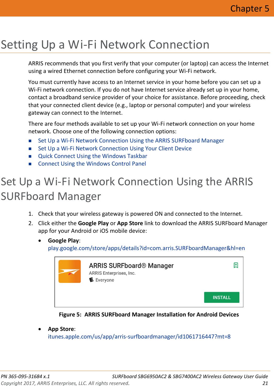 Arris SBG6950AC2 McAfee & SBG7400AC2 Wireless Gateway User