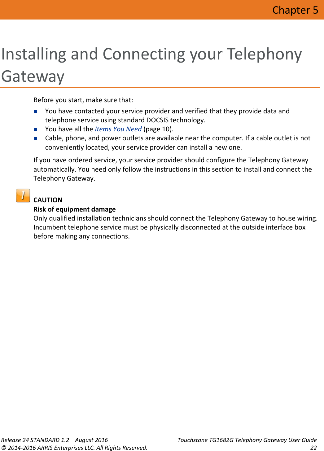 Arris TG1682G User Manual TG1682G: Guide Guide unlocked