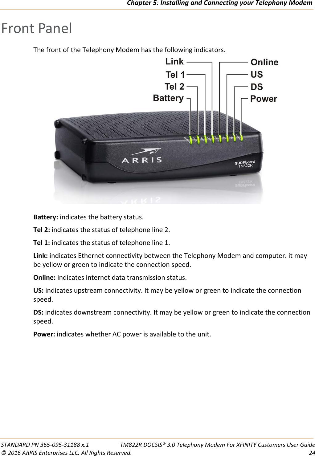 Arris TM822R User Guide Manual TM822R:
