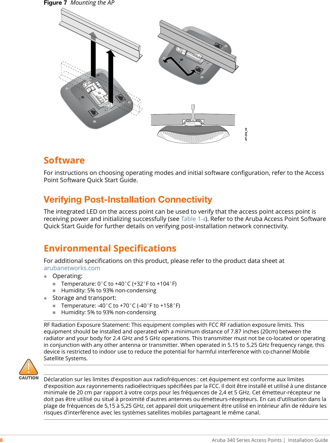 Aruba Networks APIN0344345 802 11 a/b/g/n/ac Wireless Access