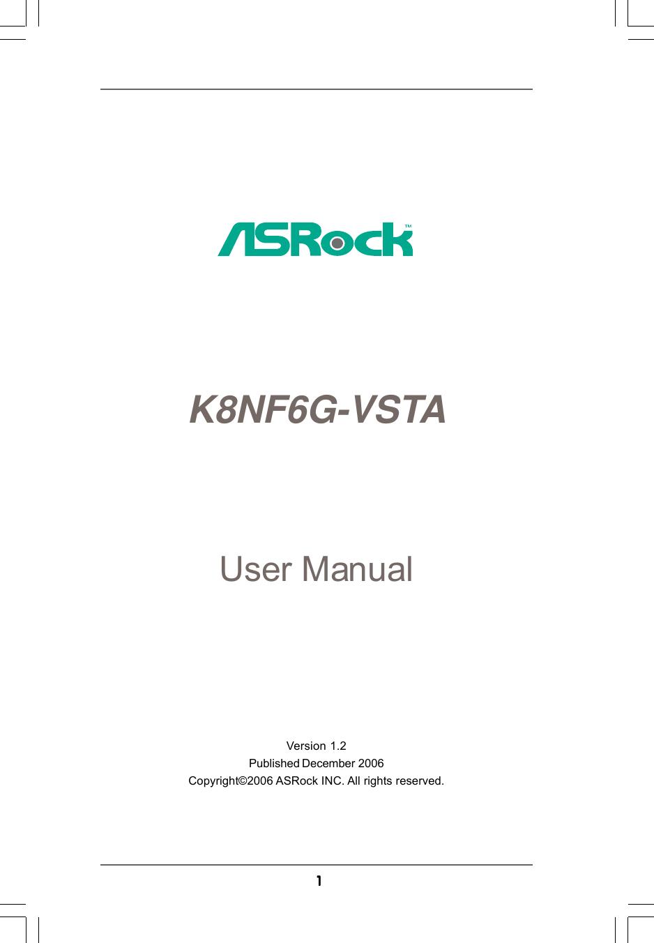Asrock Computer Hardware K8Nf6G Vsta Users Manual VSTA_UM.p65