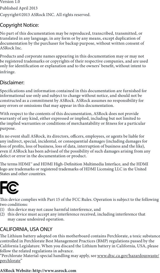 Asrock Z87 Extreme3 Owner S Manual