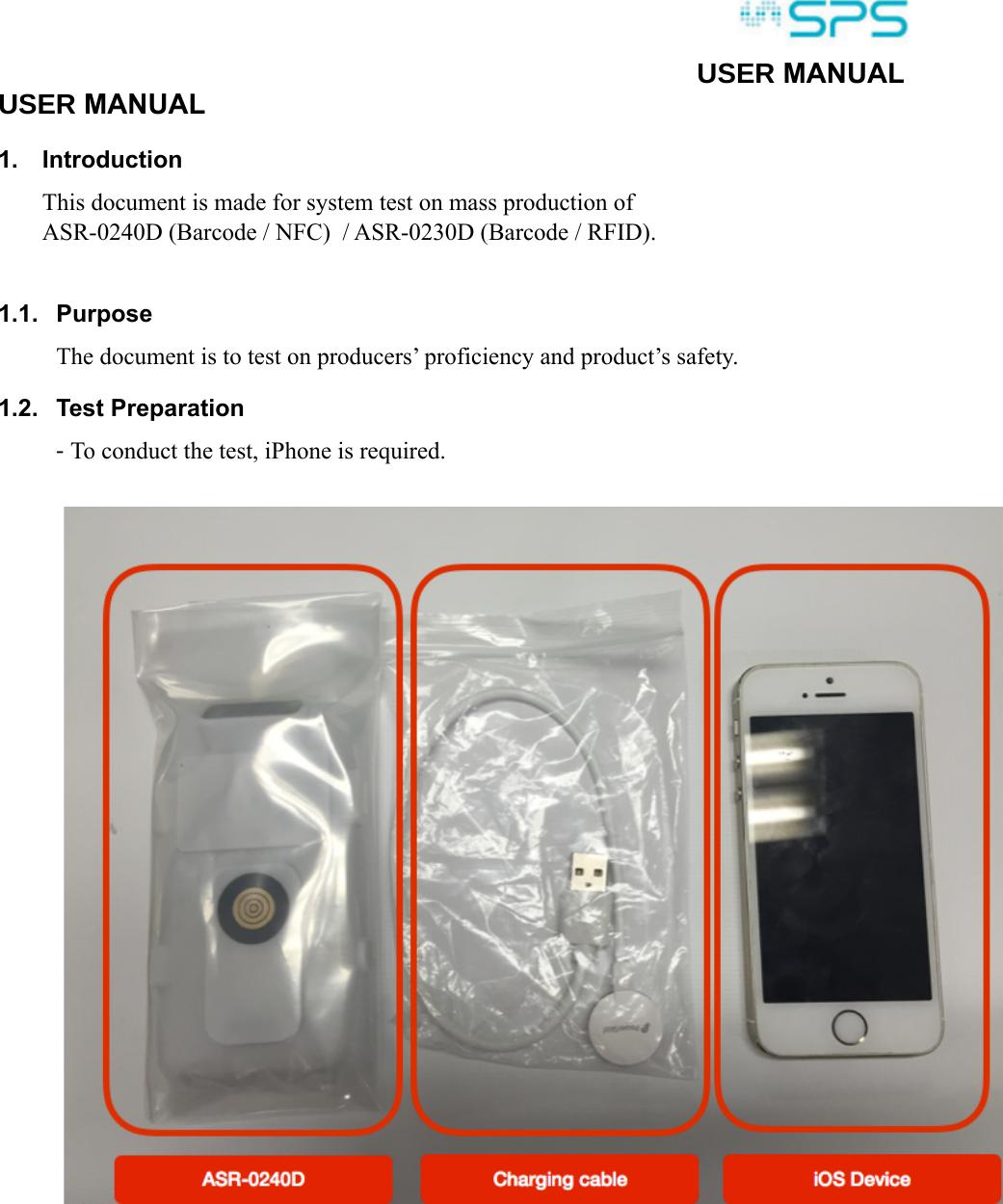 Asterisk ASR-0240D COMBO RFID Reader User Manual test manual for