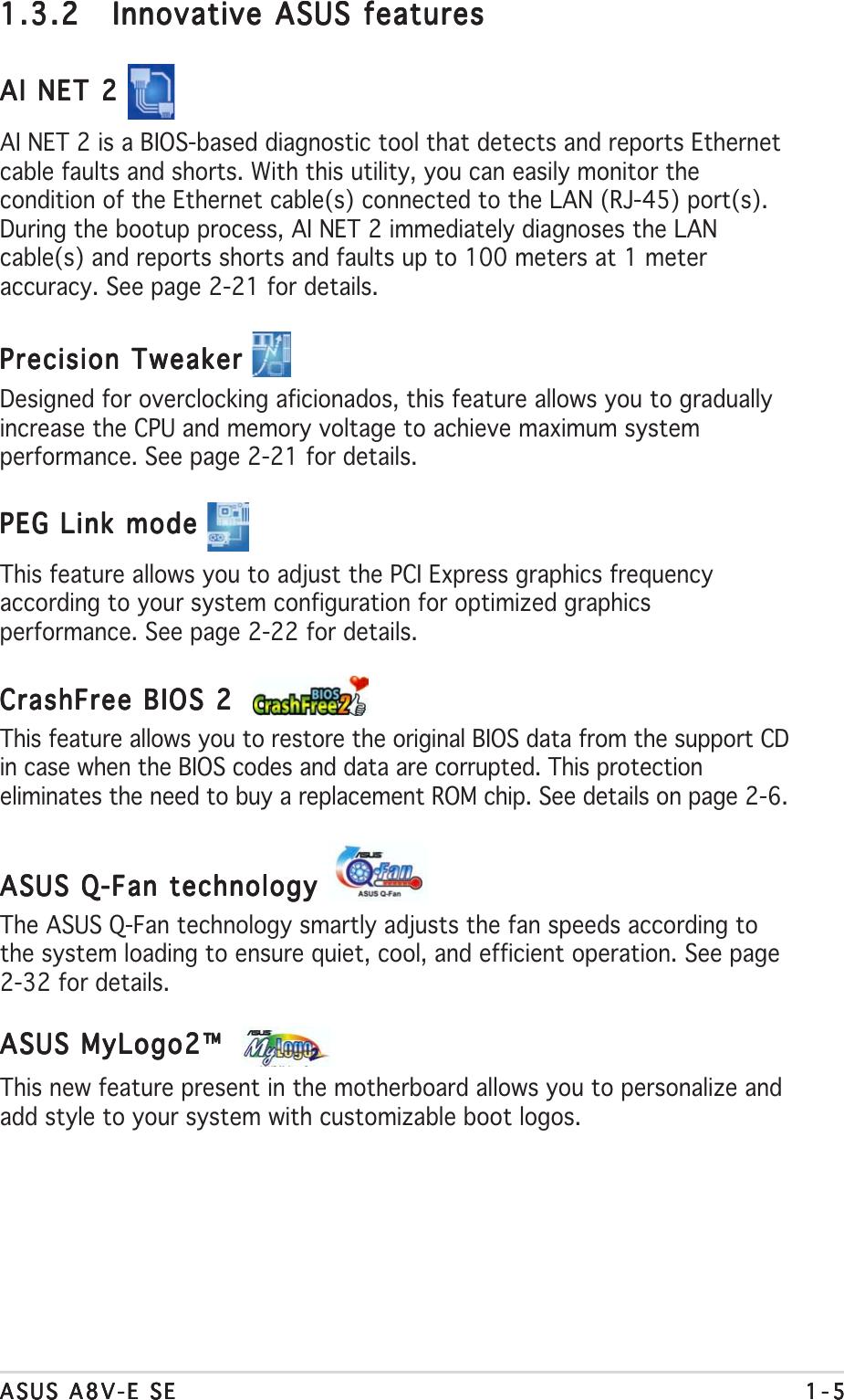 Asus Computer Hardware A8V E Se Users Manual +FRONT SE P65