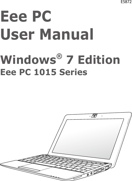 Asus Eee Pc 10 1 Led Netbook 1015Pem Pu17 Bu Users Manual