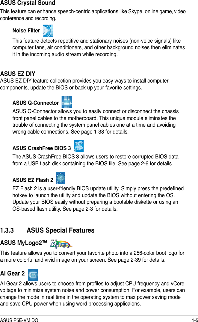 Asus Motherboard P5E Vm Do Users Manual