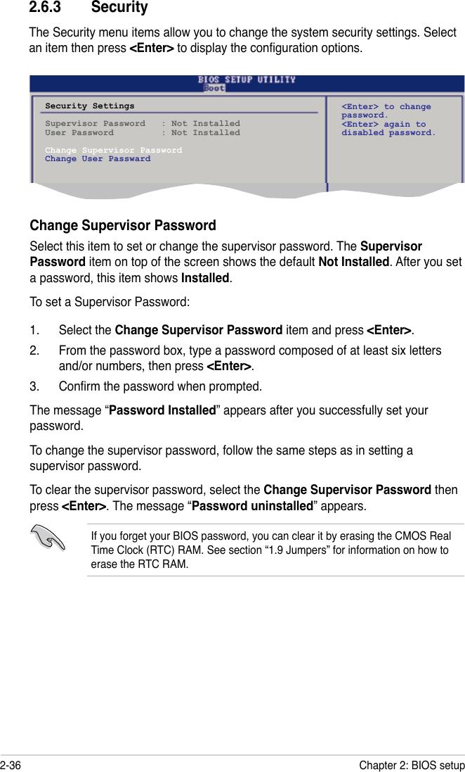 Default Bios Password