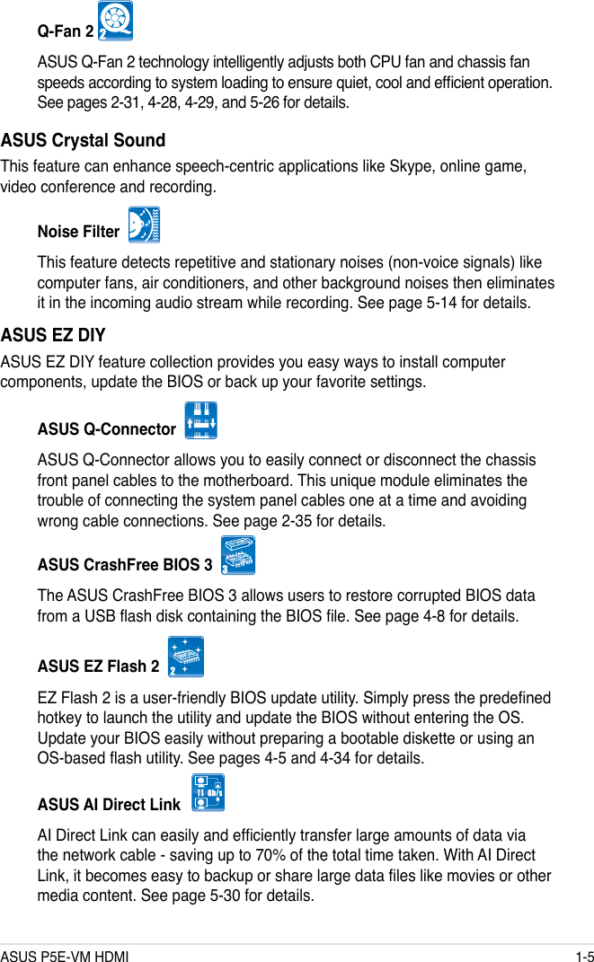 Asus Motherboard P5E Vm Hdmi Users Manual