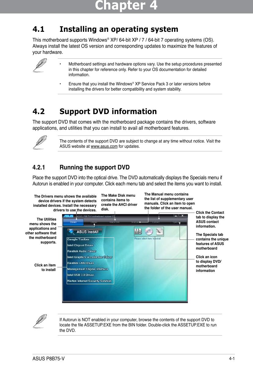 Asus Motherboard P8B75 V Users Manual