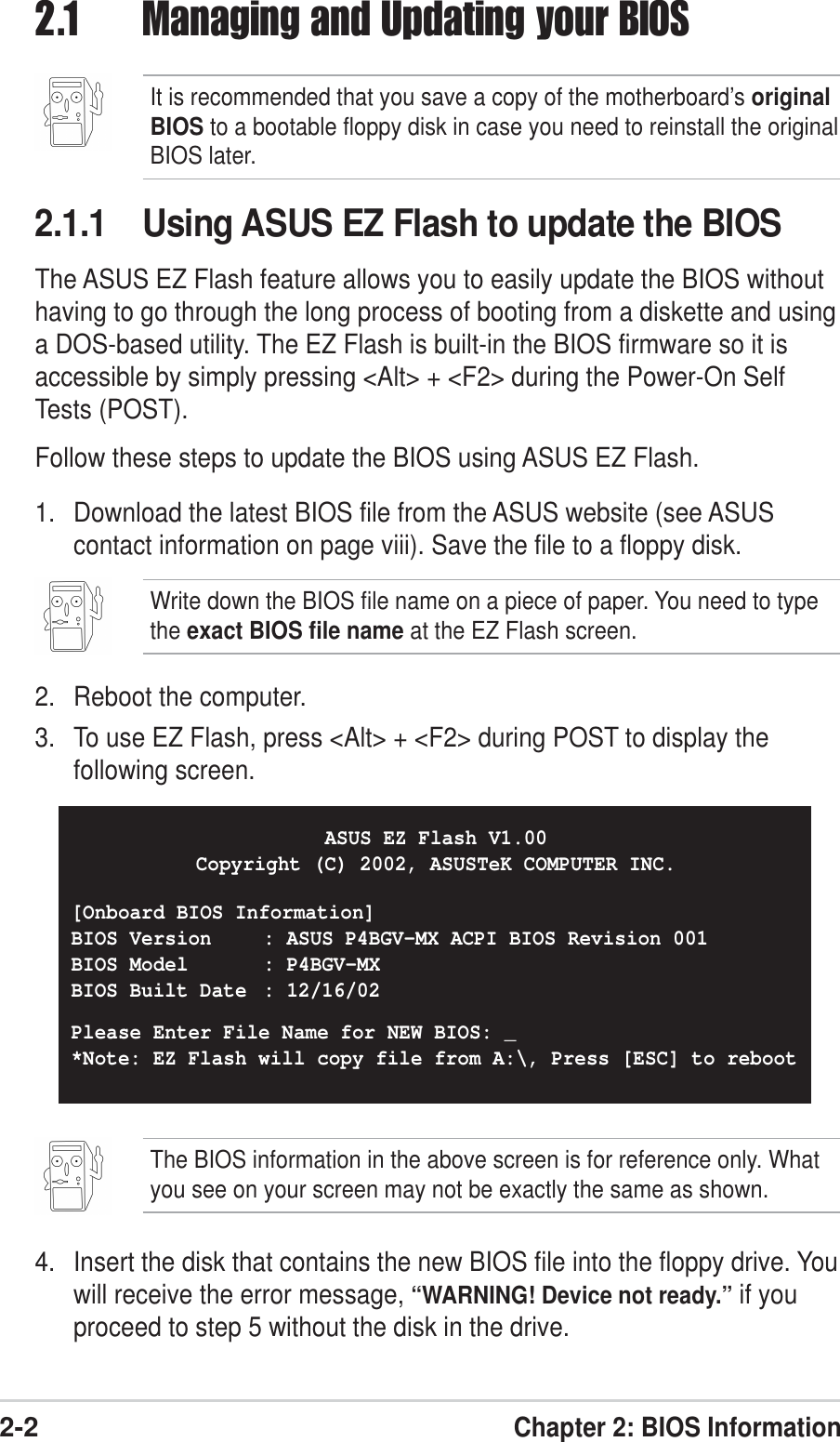 Asus P4Bgv Mx Users Manual FRONT P65