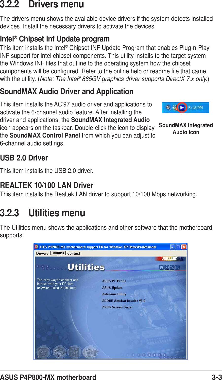 Asus P4P800 Mx Users Manual FRONT P65