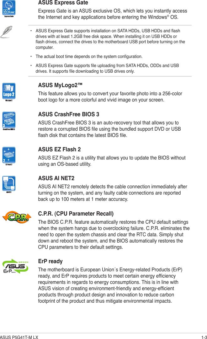 Asus P5G41Tm Lx Owner S Manual