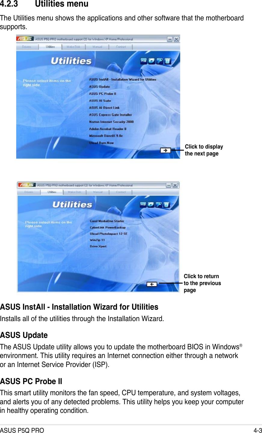 Asus P5Q Pro Motherboard Atx Users Manual ManualsLib Makes