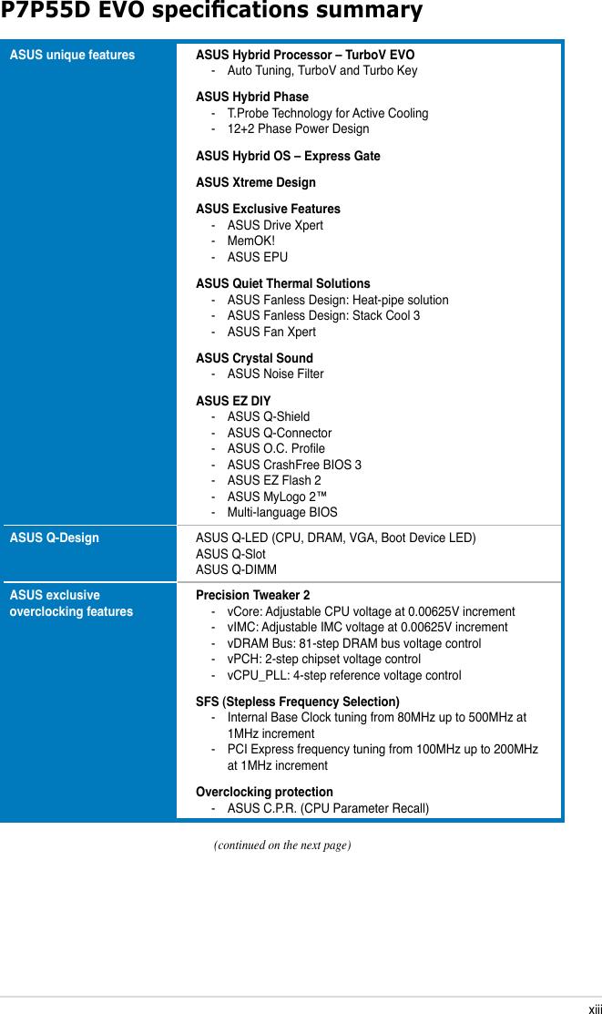 Asus P7P55D Evo Owner S Manual