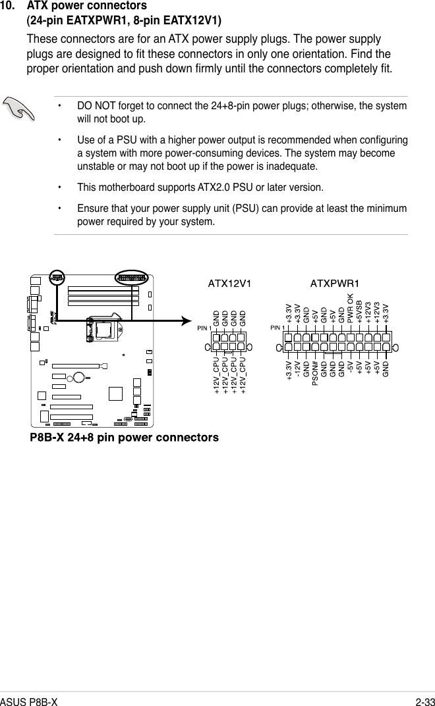 Asus P8B X Users Manual