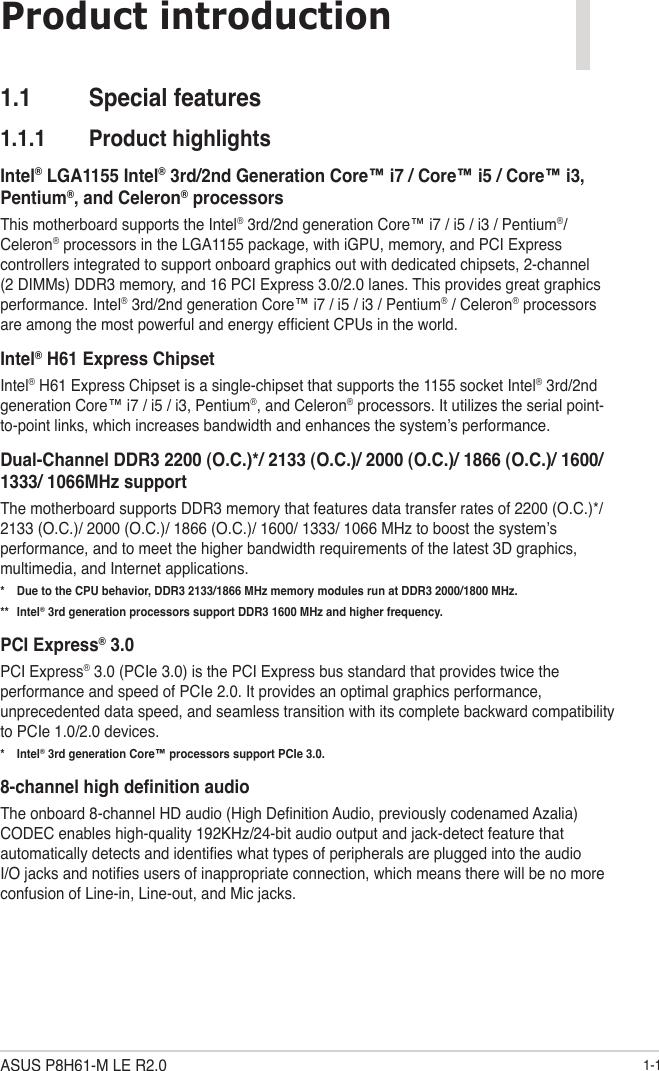 Asus P8H61 M Le Csm R2 0 E7434 Users Manual