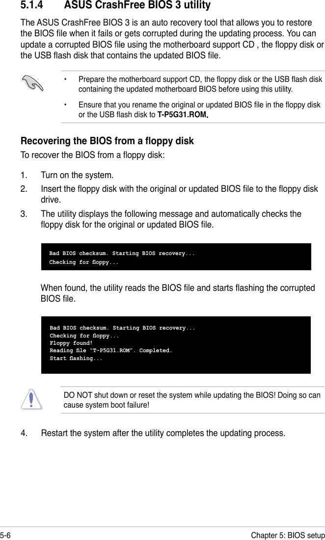 Asus T P5G31 Users Manual