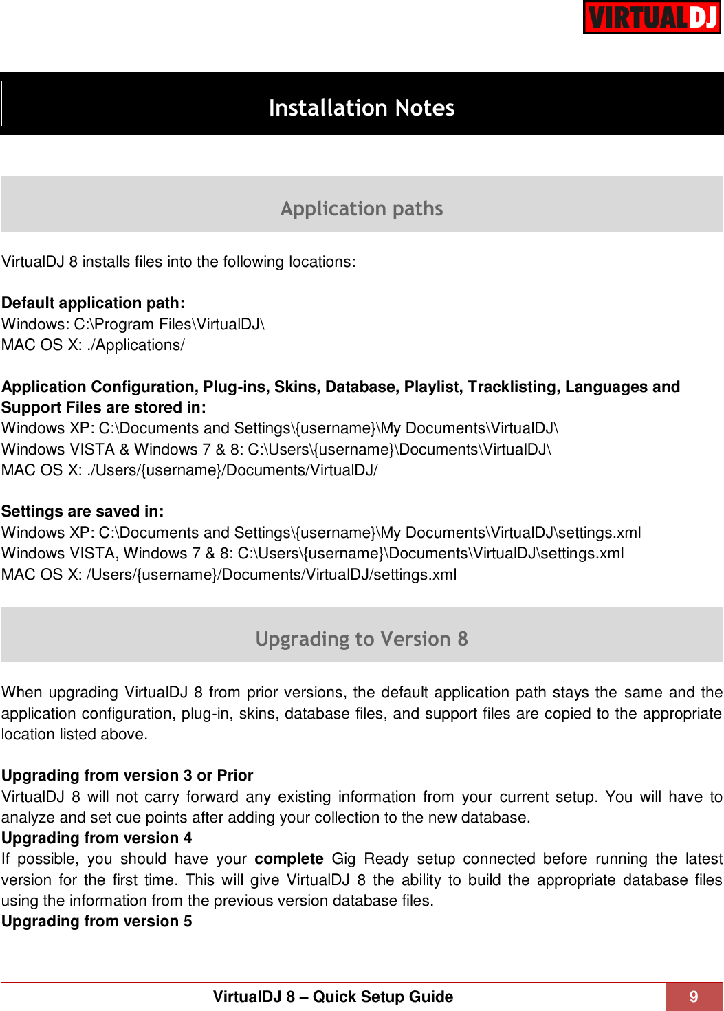 Atomix Productions Virtual Dj 8 0 Quick Setup Guide VirtualDJ