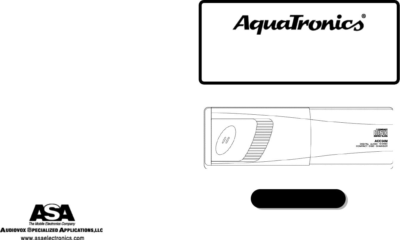 Audiovox Aquatronics Acc56M Users Manual