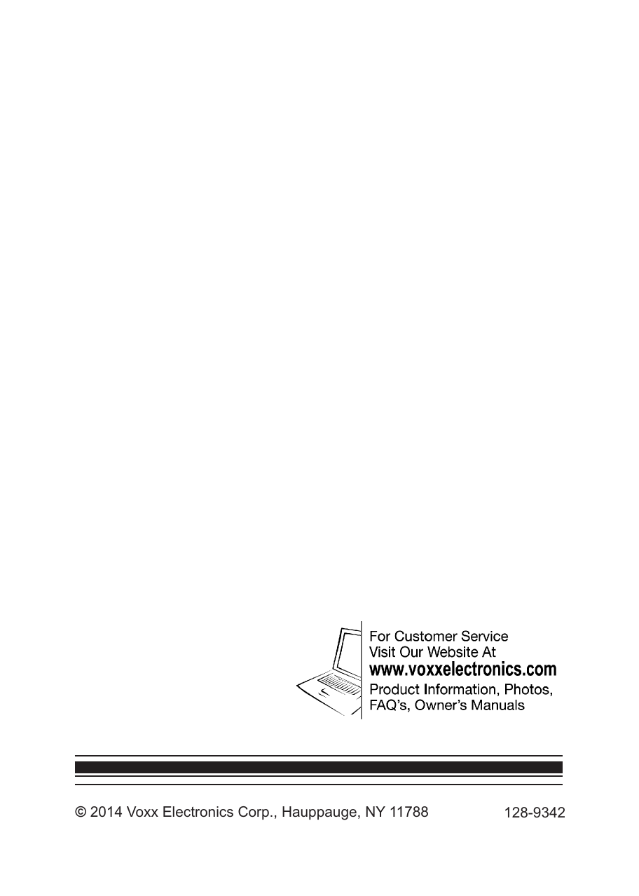 Audiovox Avxmtghr1Ma Owners Manual 128 9342 Owner's And Install