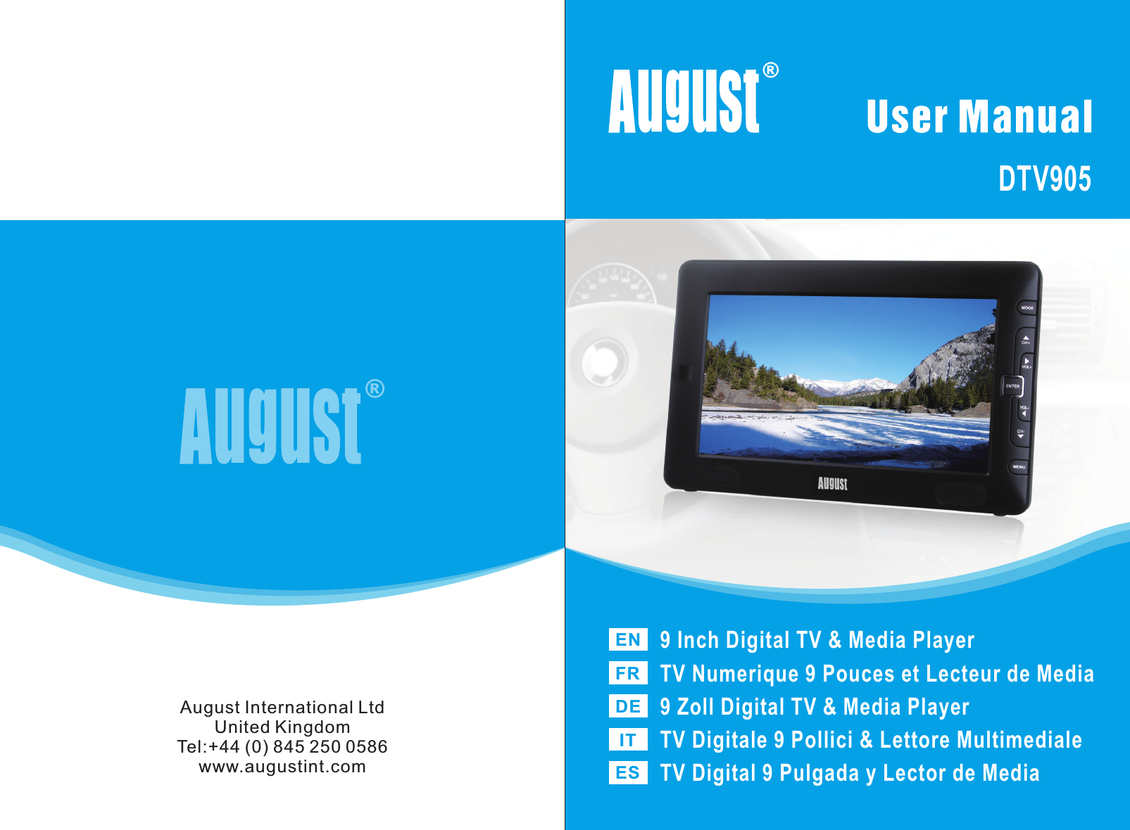 gaixample.org Portable TV and Accessories August DTV905 Car ...