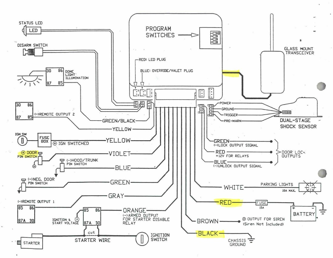 Car Remote Start Wiring Diagrams