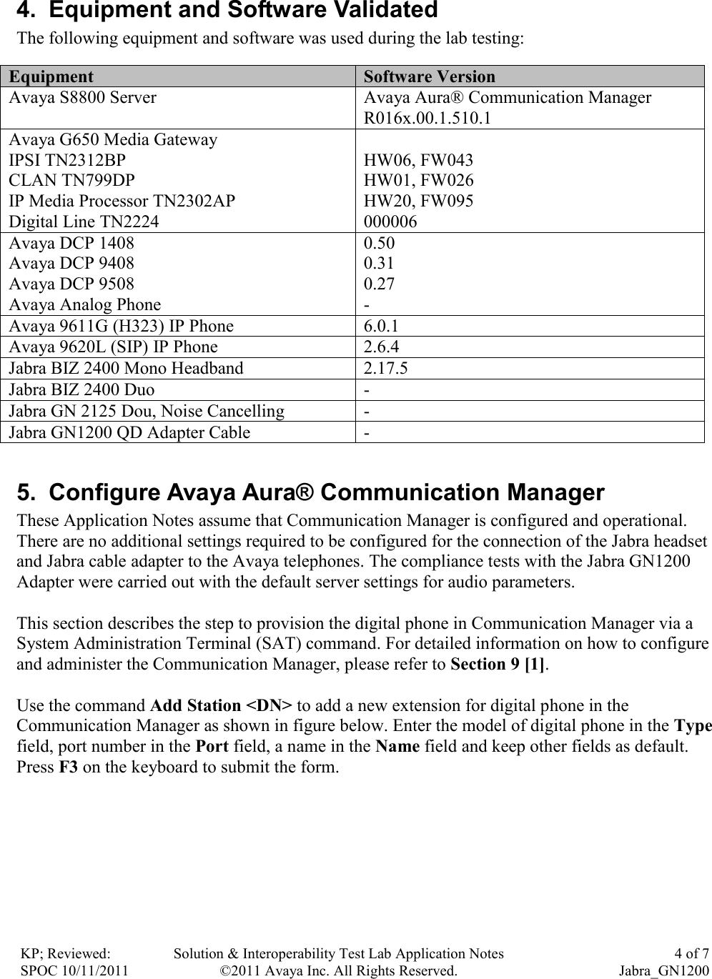 Avaya 1400 9400 9500 Series Application Note Notes For GN