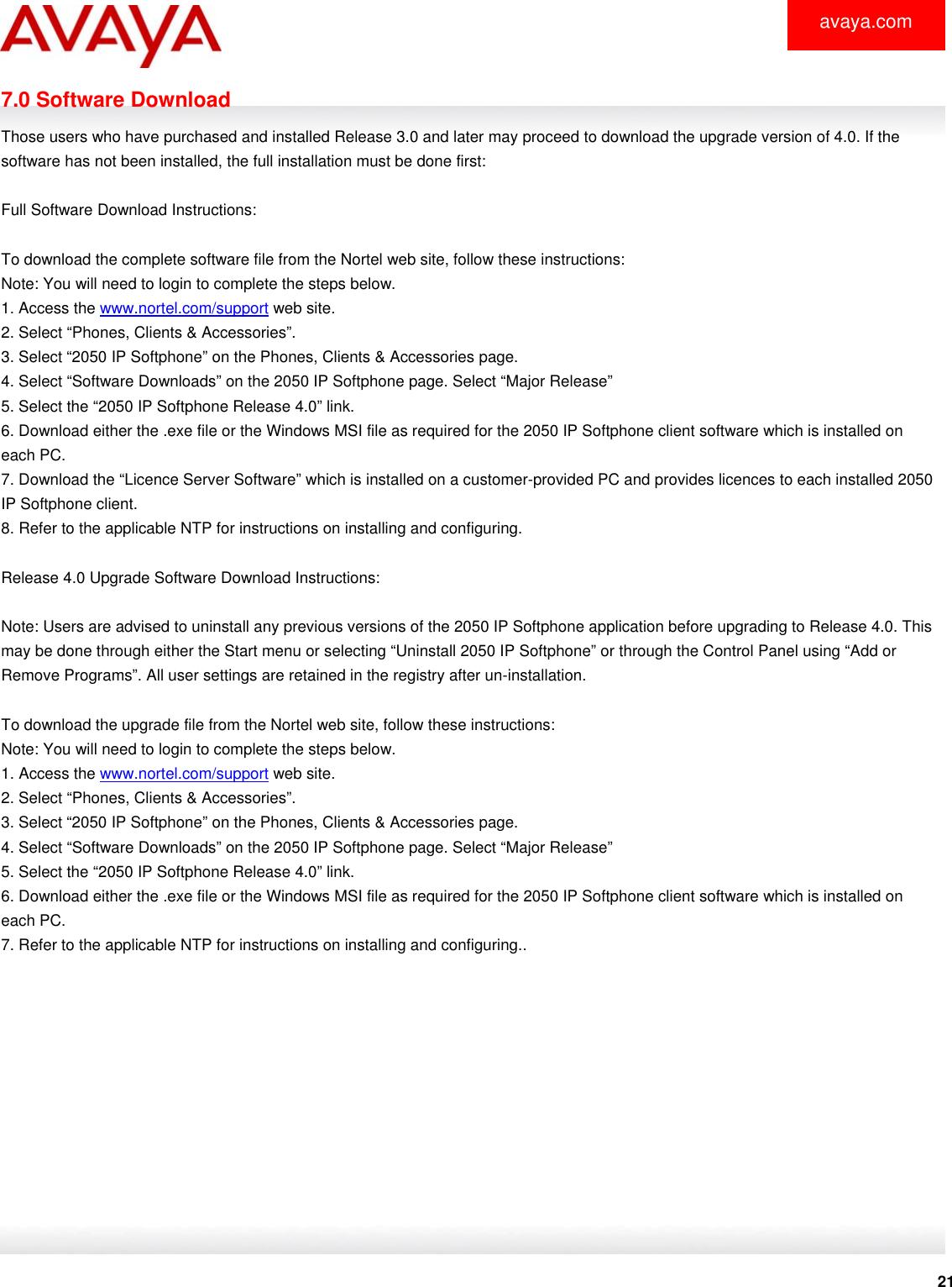 Avaya 2050 Ip Softphone Users Manual Bulletin #/ Goes Here