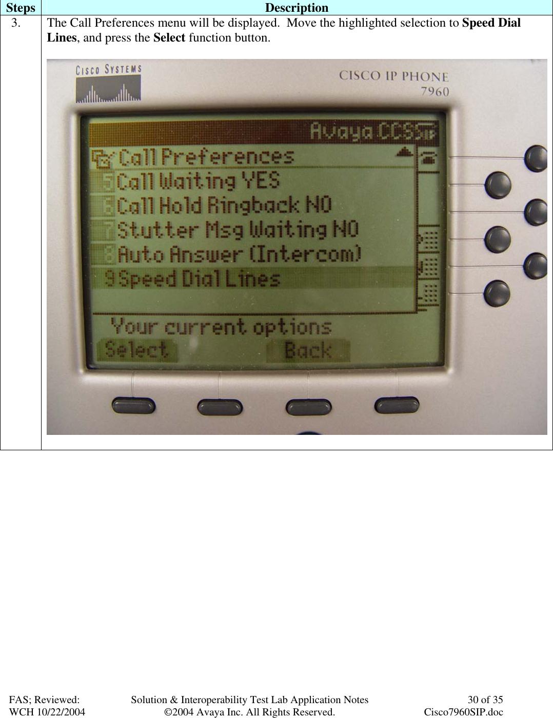 Avaya 7940 Users Manual Configuring SIP IP Telephony Using