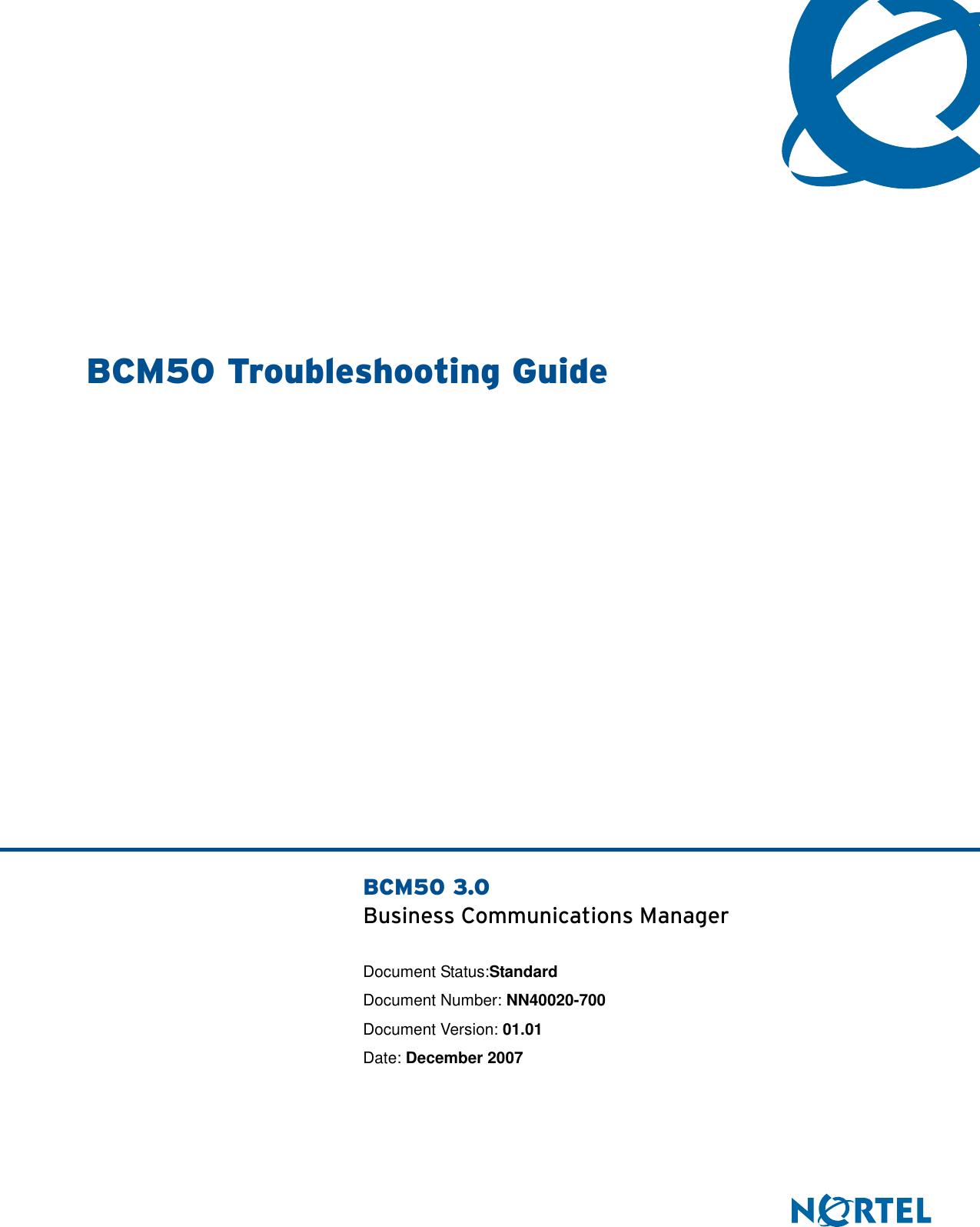 Avaya Bcm50 Troubleshooting Guide